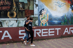 Two (SaumalyaGhosh.com) Tags: two love pair street streetphotography india kolkata color colour xt2 fuji fujifilm couple
