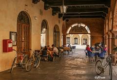 Caffè centrale (danilocolombo69) Tags: caffè busseto biciclette portici legno architettura danilocolombo69 danilocolombo nikonclubit