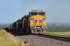 Climbing out of Denver (Moffat Road) Tags: unionpacific up freighttrain manifestfreight mnyro ge ac4400cw 7131 wings denver leyden colorado upmoffattunnelsub formerriogrande co
