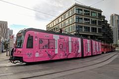 San Diego Trolley (So Cal Metro) Tags: trolley sandiegotrolley metro transit mts sandiego siemens lrt lrv tram lightrail wrap ad advertising promotion marketing s70 sd8 s70us car4010 tijuana tourism