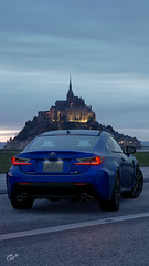 Lexus RC-F (Matze H.) Tags: lexus rcf gt sport gran turismo france mont saint michel evening dawn dark car playstation 4 pro uhd 4k hdr screenshot smartphone wallpaper rc f