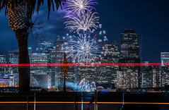 2018 fleet week fireworks 3 (pbo31) Tags: sanfrancisco california nikon d810 color city urban october 2018 boury pbo31 fall night black dark fireworks show fleetweek treasureisland lightstream motion traffic skyline ferrybuilding embarcadero center