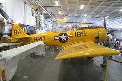 2018-090308A (bubbahop) Tags: 2018 amtraktrip sandiego california ussmidway museum aircraftcarrier hangar deck ship navy plane aircraft snj pilot trainer cv41 usa