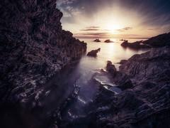 Polhawn Purple (Timothy Gilbert) Tags: wideangle sunset water panasonic laowacompactdreamer75mmf20 polhawn rocks beach lovecornwall m43 microfourthirds cornwall microfournerds coast lumix gx8 whitsandbay ultrawide