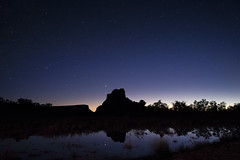 (maknsandwiches) Tags: el malpais elmalpais new mexico nm night sky stars glow silhouette rock park national monument blue purple yellow reflection landscape
