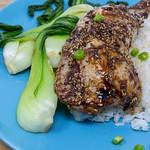 Healthy Food - Hello Fresh - Glazed Hoisin Chicken Thighs with Pak Choi and Ginger-Rice thumbnail