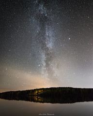 Autumn Milkyway (laurilehtophotography) Tags: suomi finland jyväskylä leppälahti pitkäjärvi milkyway linnunrata nature luonto landscape maisema night nightscape stars starry sky longexposure exposurestacking nikon d750 samyang 14mm wideangle amazing europe highiso autumn fall syksy dark