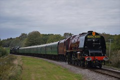 The Duchess Of Swanage (Jordon Skinner) Tags: lms duchess 46233 of sutherland powers along nordon common with return train swanage bullied pacific 34053 sir keith park u class 31806 trailing rear railway exchages steam gala