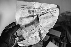 07/30 2017/10 (halagabor) Tags: urban urbex urbanexploration urbanexploring urbexphotography urbexphotos exploration exploring explorer old lost lostplaces decay derelict devastation nikon nikkor d610 abandoned abandonment bnw blackandwhite monochrome news newspaper 1984