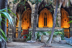 A la Catedral (Fnikos) Tags: church iglesia cathedral catedral architecture construction light garden tree palmtree people nature indoor outdoor