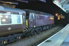 Bridlington Day Tripper (ii) (JohnGreyTurner) Tags: br rail uk railway train transport 57 class57 brush type4 duff bridlington east yorkshire excursion special 1z12 oct2018fbsummary