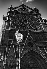 Notre Dame de Paris / Нотр Дам де Пари (dmilokt) Tags: церковь храм собор church chapel kirk cathedral temple sanctuary shrine dmilokt чб bw черный белый black white город city town