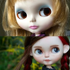Clove Before and After (Chassy Cat) Tags: rendezvous chouchou weepingbeauty alpaca reroot scalp doll custom customized blythe sbl chassycat licca ears beforeafter