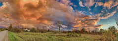 A Sudden Shift in Weather (stevegilliesphotography) Tags: canada fall ontario autumn clouds fallcolors storm sundown sunset weather wind montague ca sky landscape tree field grass