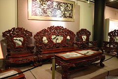 Chinese hardwood furniture (Can Pac Swire) Tags: alberta canada canadian city downtown calgary chinese art decoration furniture cultural centre 1 street st sw museum 2017aimg0815