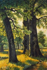 The Big Three, Art Painting / Oil Painting For Sale - Arteet™ (arteetgallery) Tags: arteet oil paintings canvas art artwork fine arts oak tree forest landscape pathway grass autumn summer trees season plant bark foliage outdoors spring environment november natural leaves outdoor morning rural branch fall sky wood garden trunk sunny woods maple sun light scene day countryside scenery field country scenic growth life sunlight path colorful yellow outside color landscapes forests pastorals green brown paint