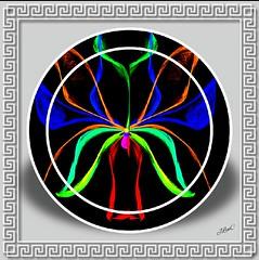 Mirror Flowering ! (jlynfriend) Tags: phonephoto lg art flower mirror illustration illumination drawing