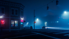 Tacoma Ave (llabe) Tags: nightlights night cinematic foggy tacoma washington nikon d750