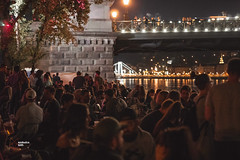 Late summer Budapest Party at the river. (RedfoxPerspective) Tags: ifttt 500px light show night festival lights city nightshot shot scene party bridge summer