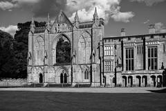 Newstead Abbey (Rich Presswood) Tags: newsteadabbey nottinghamshire mitakonzhongyi35mmf095 1940s ww2 fujixpro2 reenactor mirrorless monochrome bw black white