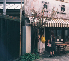 Back alley of Yokosuka (t14zucca) Tags: rollei35 film hillvale japan yokosuka