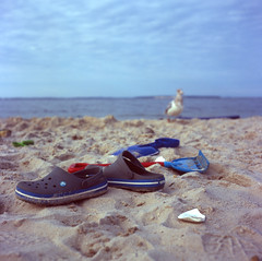 At the Beach (djrocks66) Tags: sunset sunrise landscapes waterscapes people still life oceanscapes waterfalls waterfall nature outdoors hiking mountains ny long island fuji fujifilm cinestill fishing river lake beach film medium format 120