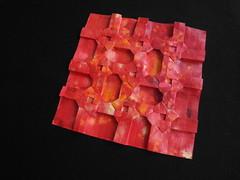 Open Shuriken Stars (Dasssa) Tags: origami paper red shuriken stars tessellation hillizenz simonmarynissen paperain