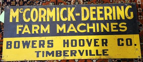 Timberville McCormick-Deering sign (425.60)
