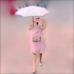 Hidden in the pink_IMG_1774i (AchillWandering) Tags: pink lady woman umbrella hidden silk art covered vowel