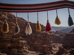 Tassled Terrain (Siobhán Bermingham) Tags: tassels historic landscape desert crafts bedouin stone mountains view jordan petra yarn wool rocks