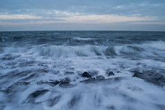 Crashing waves (Michel van Zalk) Tags: michelvanzalk photographer fotograaf photo picture ocean sea beach crashing waves zeeland netherlands holland morning sunrise sky seascape clouds moody long exposure