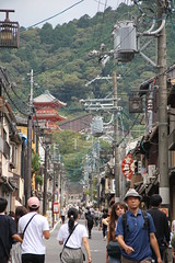 Kyoto 16.09.2018 (szogun000) Tags: kyoto 京都 kyōtoshi japan nippon nihon 日本 japonia city cityscape building temple hill trees poles electric lines traditional residental people street urban kyotoprefecture 京都府 kyōtofu canon canoneos550d canonefs18135mmf3556is