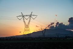 DSC_2316 (nardjes zehana) Tags: sunset sun orange skyporn mountains algeria pylone clouds nature