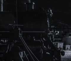 Steam locomotive at night (02) (cizauskas) Tags: steam locomotive legacy train museum chattanooga tennessee blackandwhite monochrome