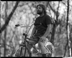 jeremy kaiser (Garrett Meyers) Tags: graflexseriesd4x5 garrettmeyers garrett meyers largeformat portrait blackandwhitefilm graflex4x5 graflex 4x5film graflexphotographer bmx trails friends woods bikes dirtjumps homedeveloped marcusobrien jeremykaiser andrewbentley