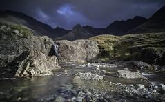 Fairy Pools (grahamhutton) Tags: skye isleofskye scotland scottishhighlands scottishhighlandsandislands fairypools blackcuillins cuillins cuillinhills coolins b8009 riverbrittle glenbrittle waterfall rockface sonya7 samgyang24mmfef28 leefilters leeseven5 grad poloriser longexposure
