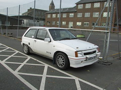 Vauxhall Nova. (Andrew 2.8i) Tags: carspotting car cars classics classic street hatch hot hatchback british gte gsi opelcorsa nova vauxhall uk unitedkingdom