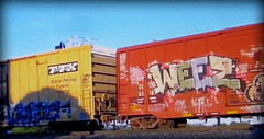 (timetomakethepasta) Tags: weez d30 weezy wyse freight train graffiti art eec boxcar