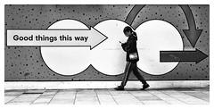 Wrong way (gro57074@bigpond.net.au) Tags: monotone mono monochrome blackwhite bw laneway f160 50mmf14 artseries sigma d850 nikon darlingharbour cbd sydney street candidstreetphotography streetphotography candid