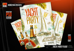 Yacht Party Flyer (AndyDreamm) Tags: beach boat coast cocktail cruise flyer holiday music nightlife party post poster sea seaparty ship summer summerparty sunset yacht yachtparty