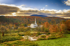 Stowe Church (andrewryder) Tags: landscapes landscape autumn vermont vt fall leaves foilage color