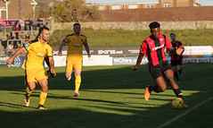 Lewes 2 Folkestone Invicta 0 20 10 2018-323-2.jpg (jamesboyes) Tags: lewes folkestoneinvicta football soccer fussball calcio voetbal amateur bostik isthmian goal score celebrate tackle pitch canon 70d dslr