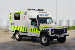 DX59 JYV (JKEmergencyPics) Tags: t john ambulance service land rover defender response vehicle st emergency rapid fast unit mobile 4x4 110 road tree windshield window dx59jyv dx59 jyv