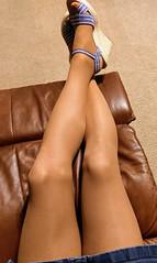 Releaxing in Leggs (Terri James) Tags: legs leggs crossdresser crossdress crossdressing cd nylons transvestite tights tv pantyhose phose sheer sheerenergy suntan skirt support
