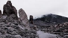 Compulsory Shooting at Teide (endresárvári) Tags: teide nationalpark teidenationalpark tenerife mountain volcano monochrome nature landscape faded muted rock stones