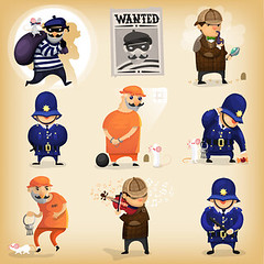 43191439_s (postageour333) Tags: police detective following wanted sign british jail imprisonment prison escape trick illustration protection profession cartoon security justice playviolin resriction prohibition law order thieve cop helmet search caught robbery criminal character uniform officer crime government cuffed reward hunter authority surveillance heroes safety investigate suspicious tracking examining pursuit seeking magnifyingglass personage