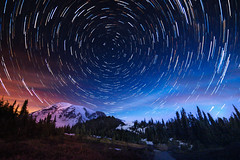 Startrails Over Rainier (csquags) Tags: stars startrails space outdoors travel hiking hike washington pnw pnwonderland pacificnorthwest rainier mountain mountains naturephotography findyourpark optoutside explorewashington pnwlife earthfocus earthpix awesomeearth nightphotography nightimages nightsky igpodiumnight astrophotography longexpoelite longexposure longexpo longexposureshots nightscape startrailchasers moodygrams nature