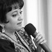 DSC_2484 B&W A Woman of Substance. Gulrukh Khan interview with Her Excellency Mrs Girija Sinha The wife of the Indian High Commissioner to London Mr Y. K. Sinha at The Universal Peace Federation at 43 Lancaster Gate London