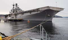 USS Iwo Jima (waynorth) Tags: ussiwojima schiff kriegsschiff nato trondheim hafen pier
