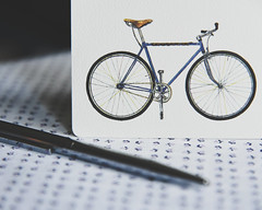 Correspondence (HW111) Tags: gotamagoinc no46biancha toronto bicycle greetingcard letter pen thankyou writing 2dwf hollywilson